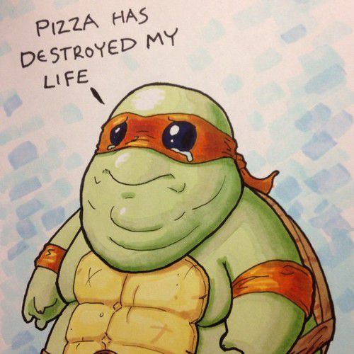 ninja turtle obesee